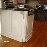 Cabinet Refinishing Island Before