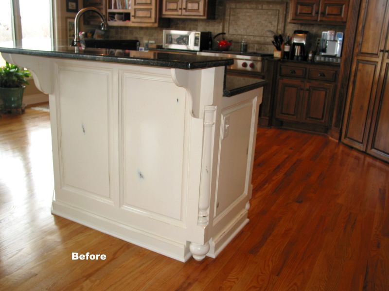 Kansas City cabinet refinish before