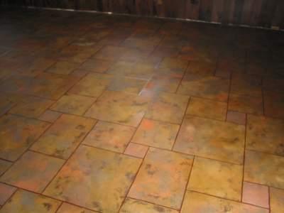 Faux floor tiles