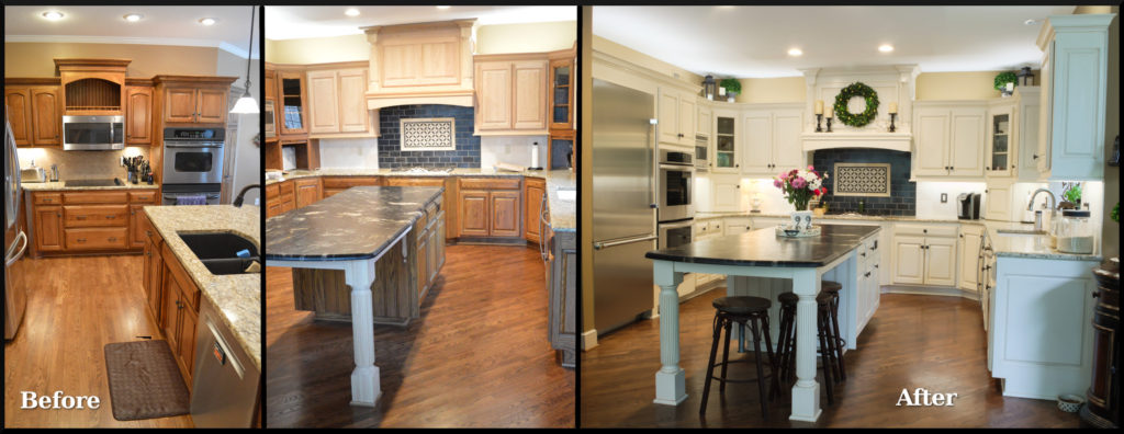 Refinish Kitchen Cabinets Before And After Cabinet