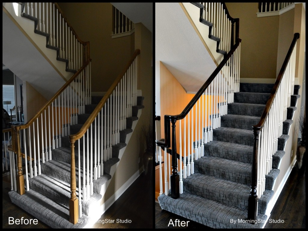 Railing 2 before and after