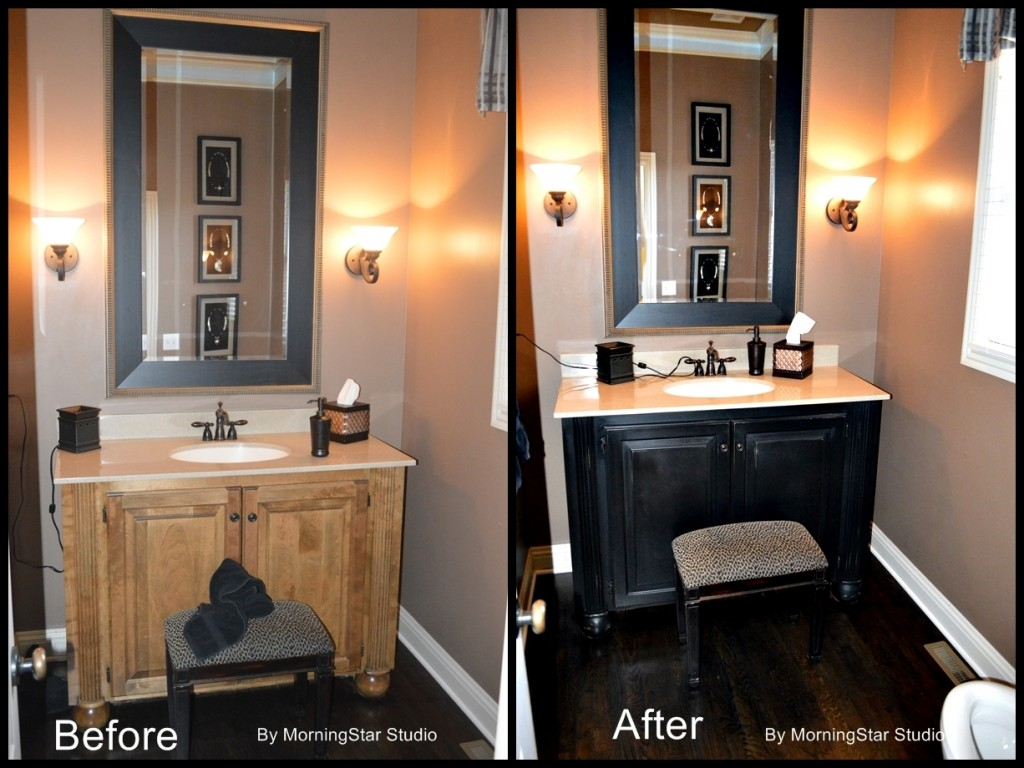 painting bathroom cabinets without sanding in kansas city