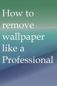 Wallpaper removal graphic