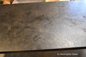 Table top faux finish
