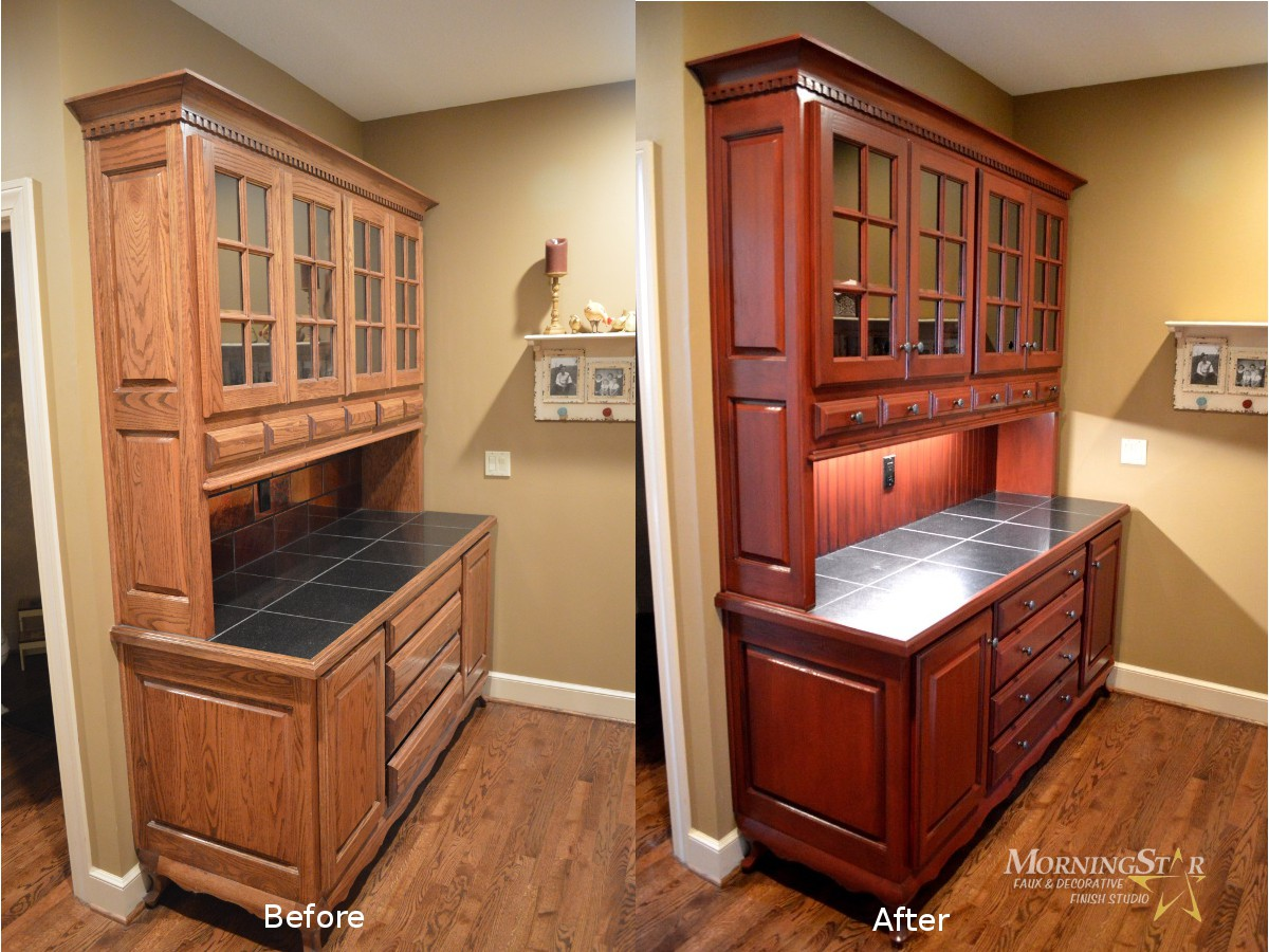 Kansas City kitchen cabinet refinish butler pantry