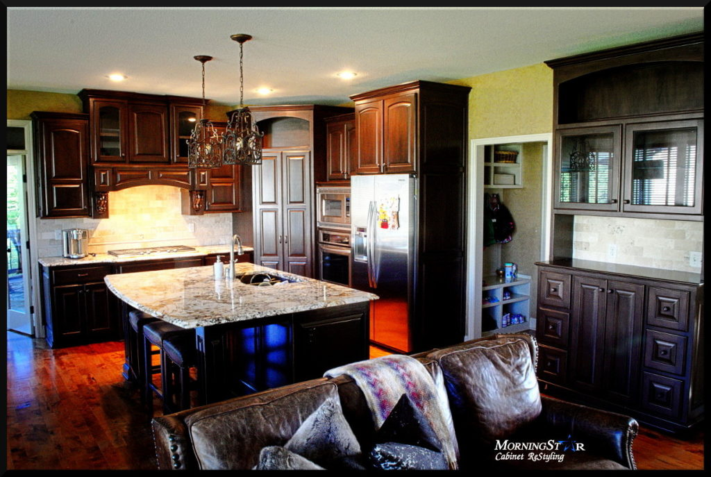 Kitchen cabinet refinish Kansas City