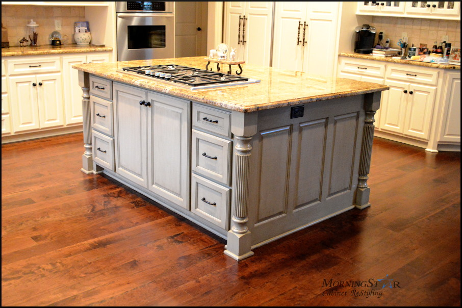 Refinishing the island cabinets sometimes is all you need for an updated feel for your kitchen.