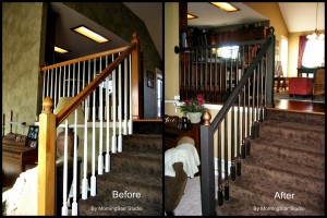 Railing before and after