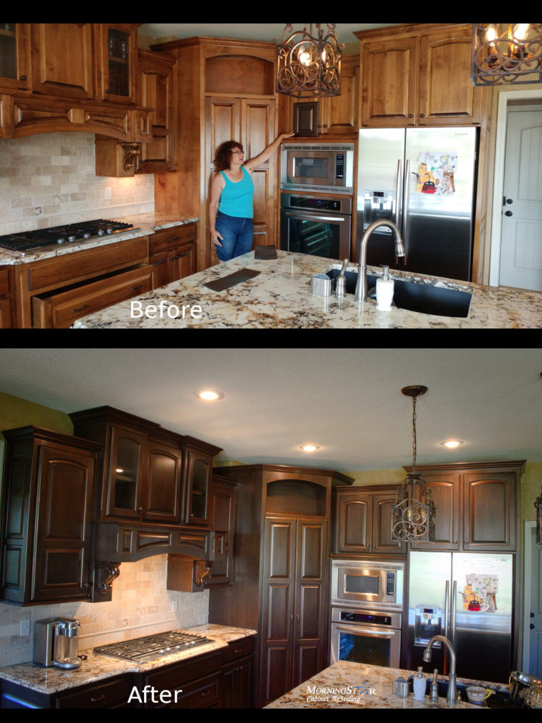 refinish kitchen cabinets before and after cabinet refinishing before and after 25271
